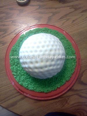Coolest Fathers Day Golf Ball Cake