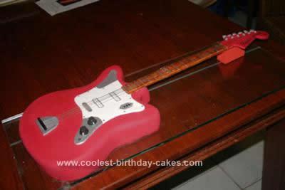 Homemade Fender Guitar Birthday Cake