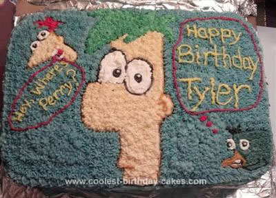 Cake phineas ferb agung for Agung decoration