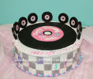 Homemade Fifties Rock and Roll Cake