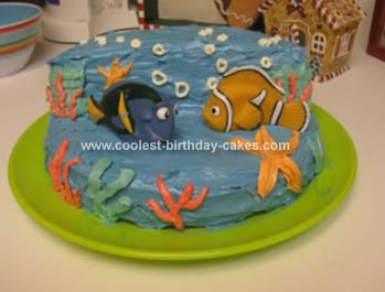 Finding Nemo Cakes - Nemo fish birthday cake
