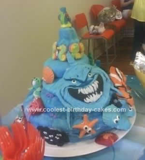 Homemade Finding Nemo Birthday Cake