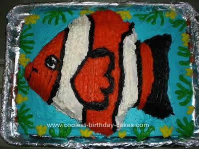 Homemade Finding Nemo Cake