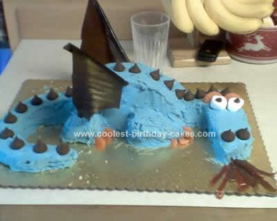 Homemade Fire Breathing Dragon Cake Design
