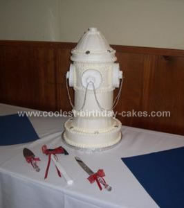 Coolest Fire Hydrant Wedding Cake