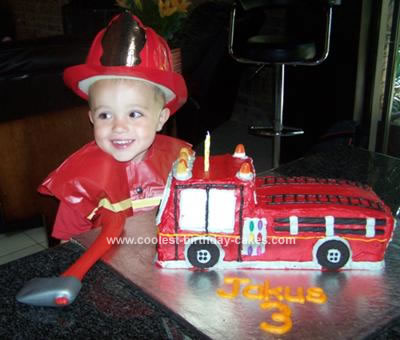 Fire Truck Birthday Cake on Coolest Fire Truck Birthday Cake 52