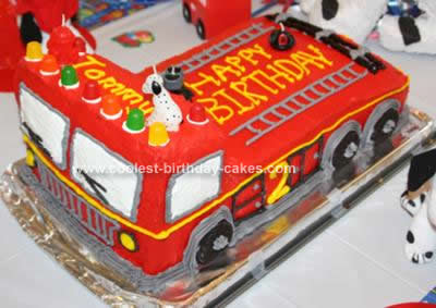 Fire Truck Birthday Cake On Coolest Design 64