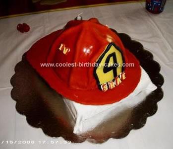 Fireman Helmet Cake