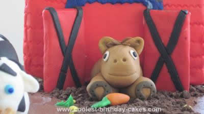 Homemade First Birthday Barnyard Fun Cake
