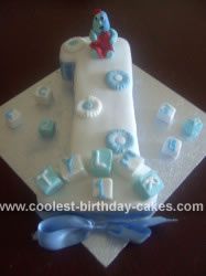 Homemade First Birthday Iggle Piggle Cake