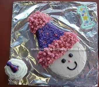 Homemade First Clown Cake
