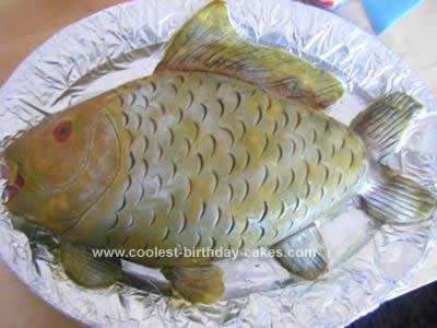 Homemade Fish Birthday Cake Idea