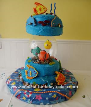Fish Birthday Cake on Coolest Fish Bowl Cake 9