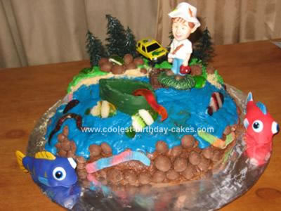Fish Birthday Cake Sandra Folsom