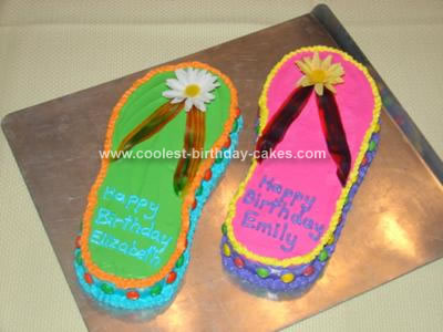 Homemade Flip Flop Birthday Cake Idea