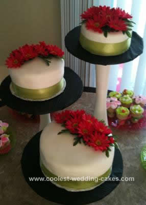Homemade Floral Bridal Shower Cake