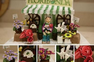 Homemade  Florist Cake