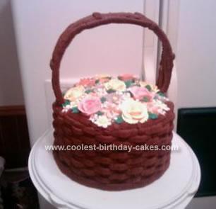 Homemade Flower Basket Cake