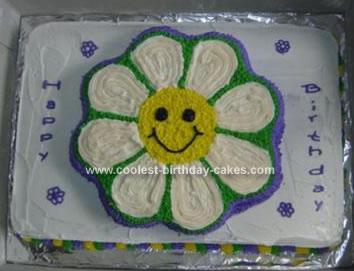 Homemade Flower Birthday Cake