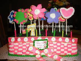 Homemade Flower Garden Cake