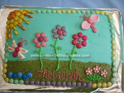 Flower Design on Coolest Flower Garden Cake 33