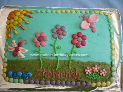 Flower Design on Coolest Flower Garden Cake 33