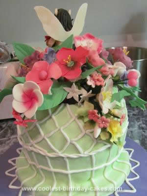 Homemade Flower Pot Fairy Cake
