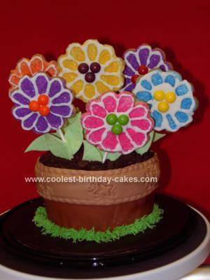 Homemade Flowerpot Cake