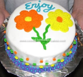 Homemade Flowers Cake