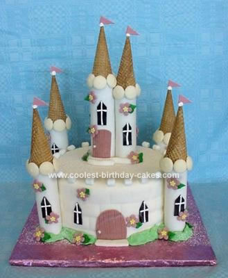 Homemade Fondant Castle Cake