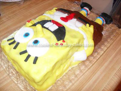 Coolest Fondant Spongebob 4th Birthday Cake