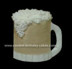 Homemade Foot Tall Beer Mug Cake