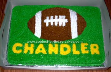 Homemade Football Birthday Cake