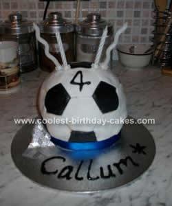 Homemade Football Birthday Cake Design