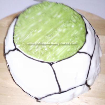 Homemade Football Cake