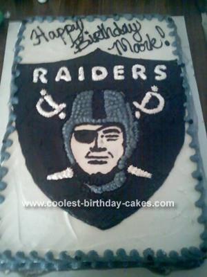 Oakland Raider Cake