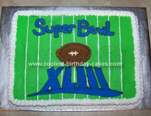 Homemade Football Field Cake