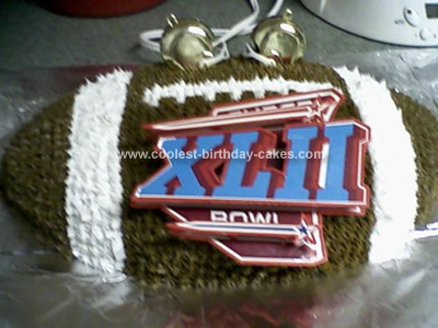 Homemade Football Cake