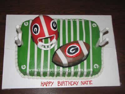 Homemade Football Cake Design