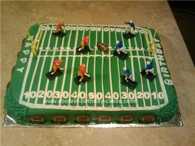 Homemade Football Field Birthday Cake