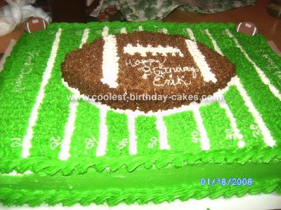 This football field cake was a fun cake. I made it last year for my son's