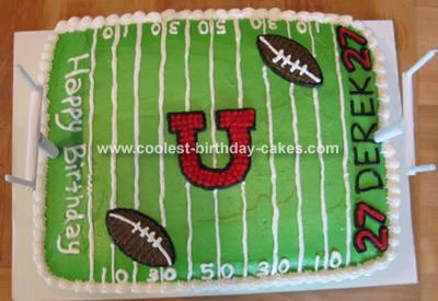 College Football Field Cake