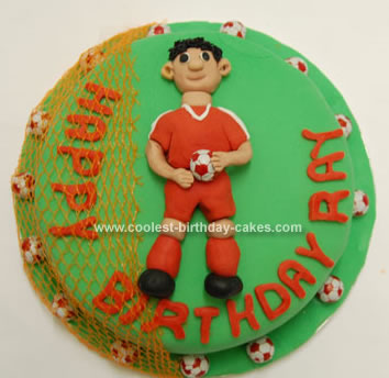 Homeamde Liverpool Football Player Cake