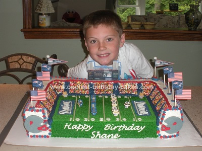 Homemade Football Stadium Birthday Cake