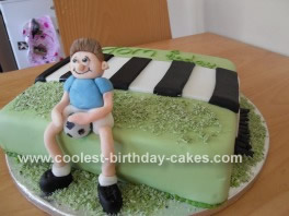 Homemade Footballer Cake