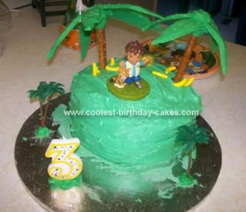 Homemade Forest Birthday Cake