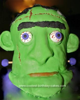 Homemade Frankenstein Cake