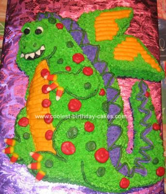 Homemade Friendly Dragon Cake