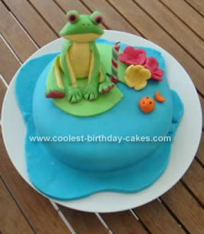 Homemade Frog Birthday Cake Idea