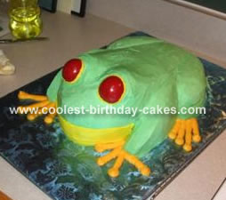 Red Eyed Tree Frog Cake